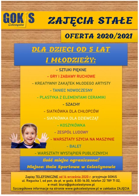plakat ZAJECIA DZIECI-1