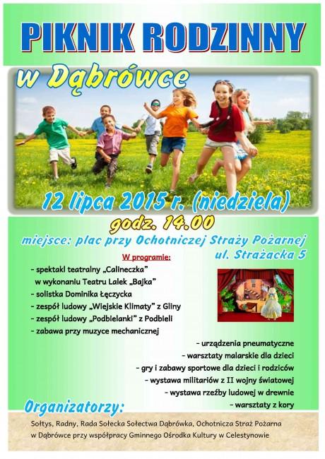plakat piknik Dabrowka1