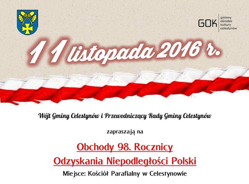 Obchody 98. Rocznicy Odzyskania Niepodległości Polski