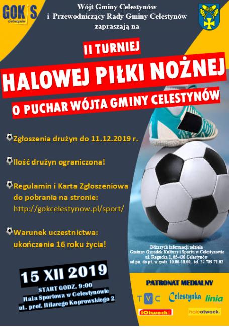 Plakat II Turniej Halowej Piłki Nożnej