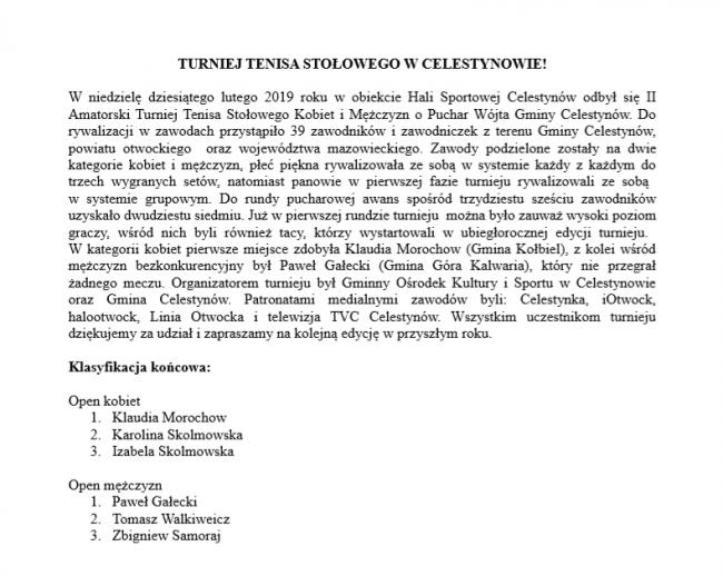 notatka tenis na stronę