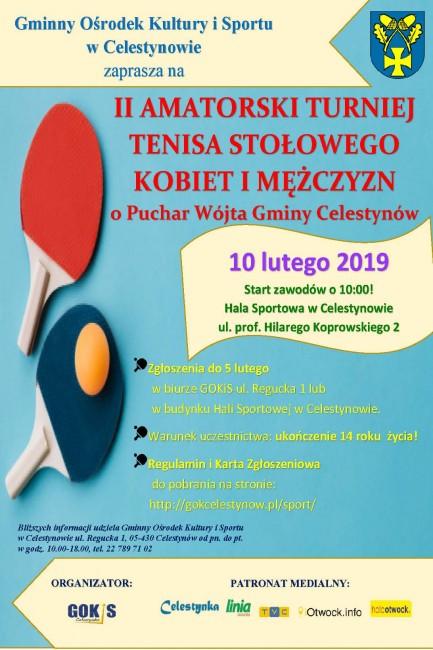 plakat - II TENIS STOŁOWY 2019