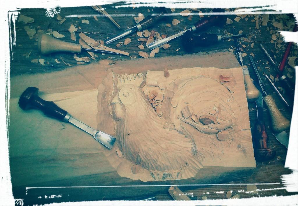 Zaproszenie na otwarcie wystawy uczestników warsztatów rzeźby ludowej w drewnie