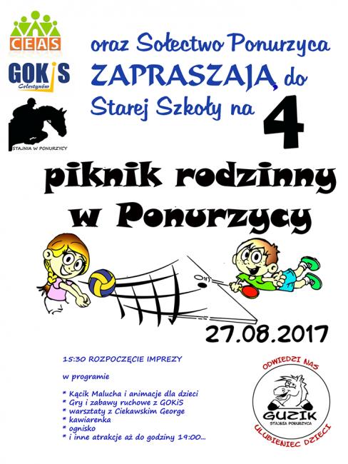 plakat Ponurzyca 27.08.2017