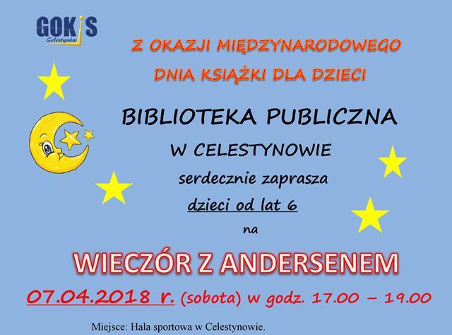 Wieczór z Andersenem – spotkanie autorskie dla dzieci z Wiolettą Piasecką