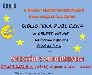 Wieczór z Andersenem - spotkanie autorskie dla dzieci z Wiolettą Piasecką