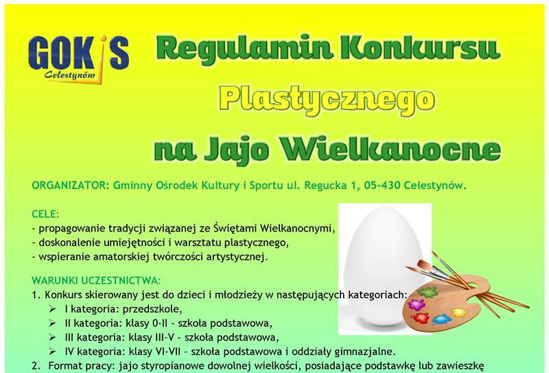 Konkurs Plastyczny na Jajo Wielkanocne