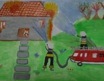 """Wyniki konkursu plastycznego """"100 LAT OSP DĄBRÓWKA – strażacy zawsze pomocni"""""""