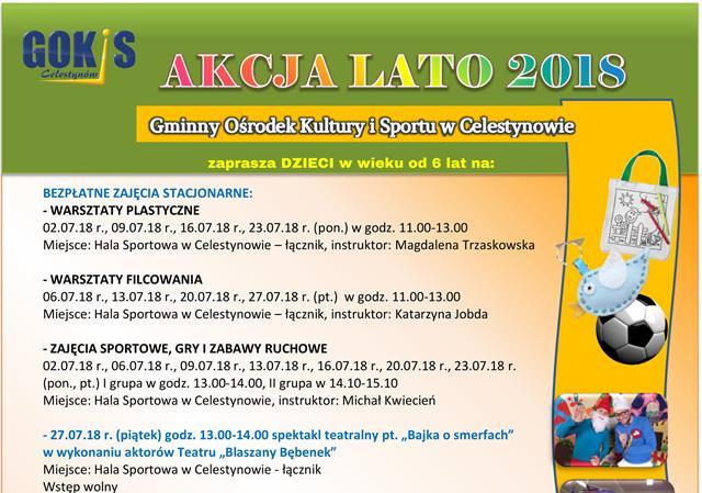 Akcja Lato 2018 dla dzieci w wieku od 6 lat