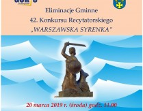 """Eliminacje Gminne 42. Konkursu Recytatorskiego """"Warszawska Syrenka"""""""