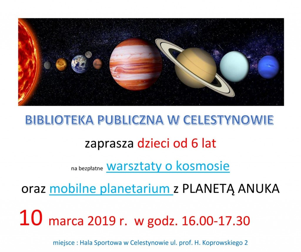 Warsztaty o kosmosie dla dzieci
