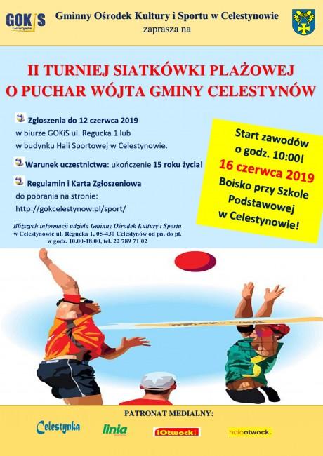 plakat-turniej-siatkówki-plażowej-Celestynów-2019