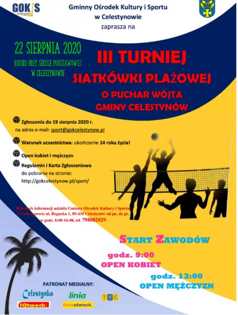 plakat siatkówka plażowa 2020