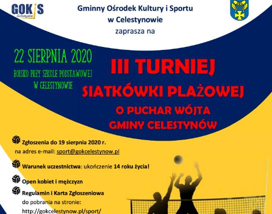 III Turniej Siatkówki Plażowej o Puchar Wójta Gminy Celestynów