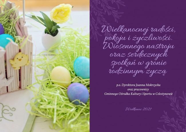 Purple Photo Easter Card676