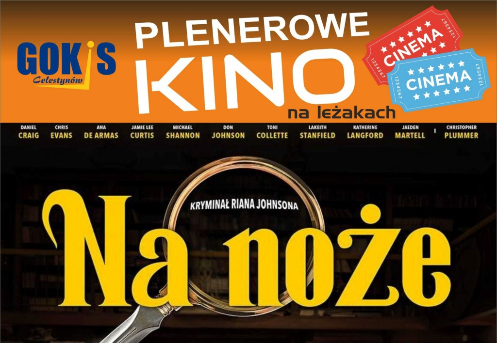 "Plenerowe kino na leżakach – film ""Na noże"""