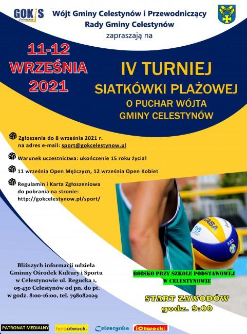 IV Turniej Siatkówki Plażowej 2021 plakat projekt MK 2(1)