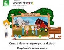 """Kurs e-learningowy dla dzieci """"Bezpiecznie na wsi mamy upadkom zapobiegamy"""""""